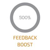 500% feedback boost