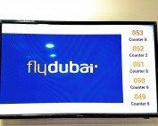 Qmatic Display in Fly Dubai